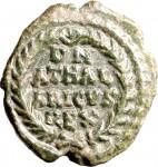 1795R Quarto di follis da 10 nummi 526-534 Iscrizione entro corona di alloro Roma Bronzo