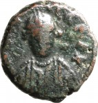 1800D Quarto di follis da 10 nummi 549-552 Iscrizione entro corona di alloro Roma Bronzo