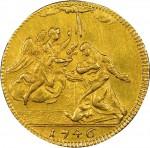 34R 4 zecchini da 36 lire 1746 Annunciazione Torino Oro