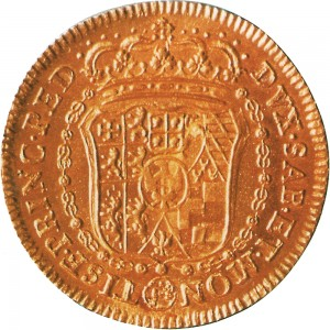 56R Doppia da 4 scudi 1741 Scudo sagomato 2° tipo Torino Oro