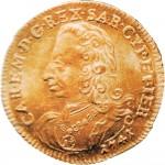55D Doppia da 4 scudi 1741 Scudo sagomato 2° tipo Torino Oro