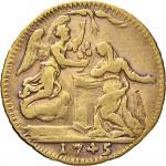 43R Mezzo zecchino da 4,17 lire 1745 Annunciazione Torino Oro