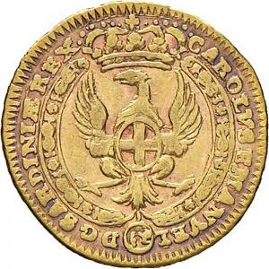 43D Mezzo zecchino da 4,17 lire 1745 Annunciazione Torino Oro