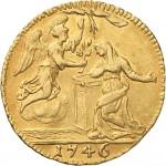 46R Mezzo zecchino da 4,17 lire 1746 Annunciazione Torino Oro