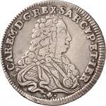 82D Ottavo di scudo da 0,12 lire 1733 Scudo sagomato Torino Argento