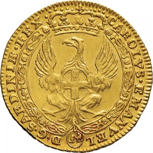 36D Zecchino da 9,15 lire 1744 Annunciazione 1° tipo Torino Oro