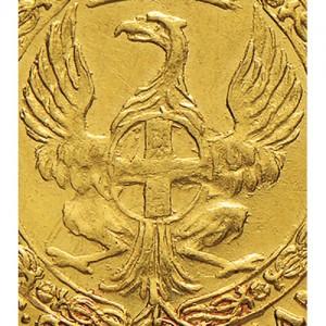 36P Zecchino da 9,15 lire 1744 Annunciazione 1° tipo Torino Oro