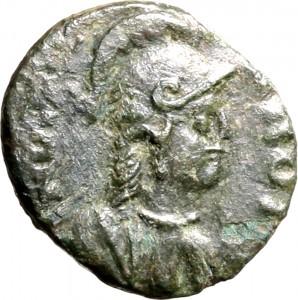 1799D Quarto di follis da 10 nummi 534-536 Iscrizione entro corona di alloro Roma Bronzo