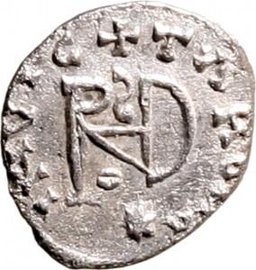 1792R Quarto di siliqua 493-498 Monogramma Mediolanum o Ticinium Argento