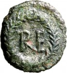 1791R Quarto di follis da 10 nummi 489-526 Monogramma Ravenna Bronzo