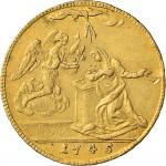 33R 4 zecchini da 36 lire 1745 Annunciazione Torino Oro