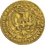42D Mezzo Zecchino da 4,17 lire 1744 Annunciazione Torino Oro