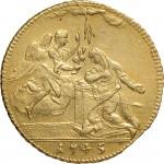 38R Zecchino da 9,15 lire 1745 Annunciazione 2° tipo Torino Oro