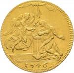 41R Zecchino da 9,15 lire 1746 Annunciazione 2° tipo Torino Oro