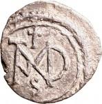 1801R Mezza siliqua 550-551 Monogramma entro corona di alloro Constantinopolis (?) Argento