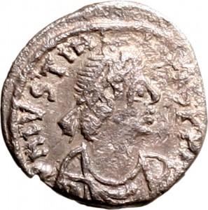 1801D Mezza siliqua 550-551 Monogramma entro corona di alloro zecca non identificata Argento