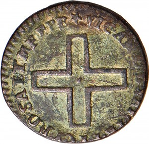 9D 2 denari da 1/6 di soldo 1727 Nodo d