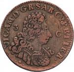 26D 3 cagliaresi da mezzo soldo 1724 Croce piana Torino Rame