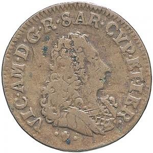 28D Cagliarese da 2 denari 1724 Croce piana Torino Rame