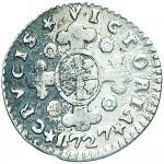 17R Mezzo reale da 2,6 soldi 1727 Croce di San Maurizio Torino Argento