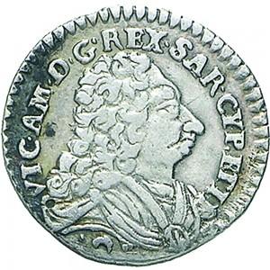17D Mezzo reale da 2,6 soldi 1727 Croce di San Maurizio Torino Argento