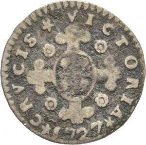 23-001R Mezzo reale da 2,6 soldi 1727 Croce di San Maurizio Torino Argento