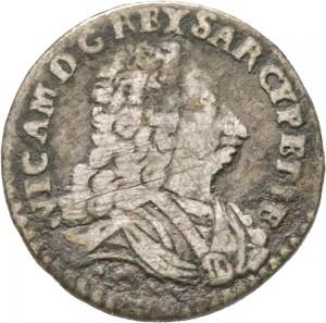 23-001RD Mezzo reale da 2,6 soldi 1727 Croce di San Maurizio Torino Argento