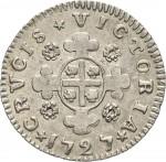 13R Reale da 5 soldi 1727 Croce di San Maurizio Torino Argento