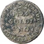 4D Soldo da 12 denari 1726 Croce piana Torino Mistura di argento