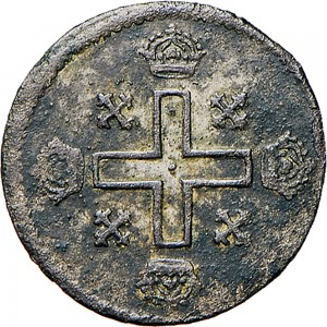 4R Soldo da 12 denari 1726 Croce piana Torino Mistura di argento