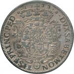 67R Scudo da 5 lire 1733 Scudo sagomato Torino Argento
