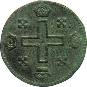 2R Soldo da 12 denari 1722 Croce piana 1° tipo Torino Mistura di argento