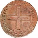 6D 2 denari da 1/6 di soldo 1722 Nodo di Savoia 1° tipo Torino Rame