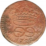 6R 2 denari da 1/6 di soldo 1722 Nodo di Savoia 1° tipo Torino Rame