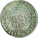 76R Mezzo scudo da 2,10 lire 1733 Scudo sagomato Torino Argento