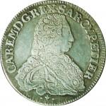 76D Mezzo scudo da 2,10 lire 1733 Scudo sagomato Torino Argento
