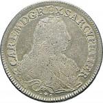 74D Scudo da 5 lire 1734 Scudo sagomato Torino Argento
